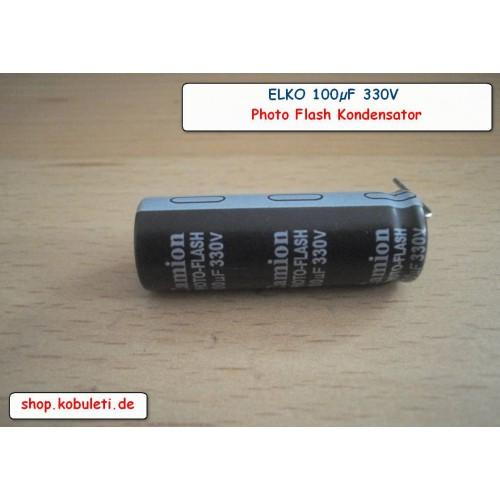 Photo flash kondensator